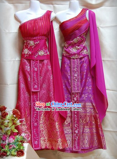Traditional Thai Wedding Dress Complete Set