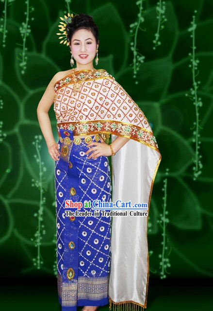 Traditional Thailand Court Dress Costume Complete Set