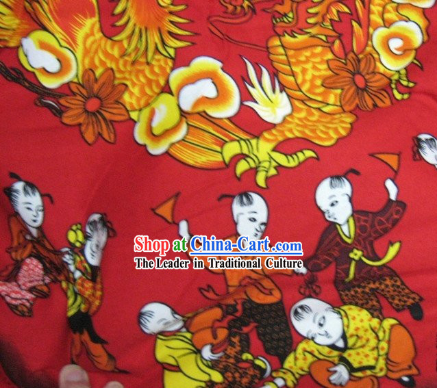 Hundreds of Children Chinese Cotton Fabric