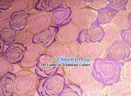 Pure Silk Rose Cheongsam Fabric