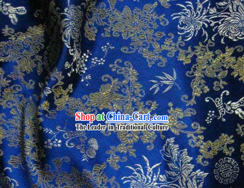 Lucky Fu Longevity Flower Silk Fabric