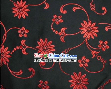 Chinese Traditional Flower Silk Fabric