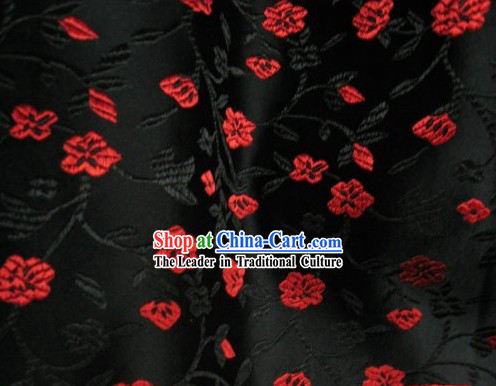 Small Flower Chinese Silk Fabric