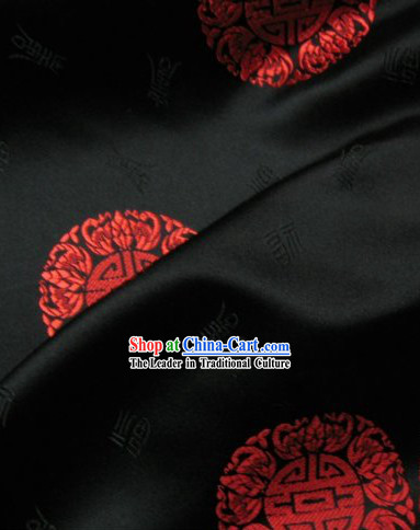 Hundreds of Lucky Fu Silk Fabric