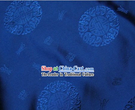 Chinese Fu Character Silk Fabric