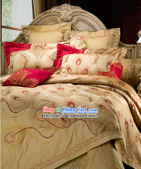 Chinese Wedding 9 Pieces Phoenix Bedding Set