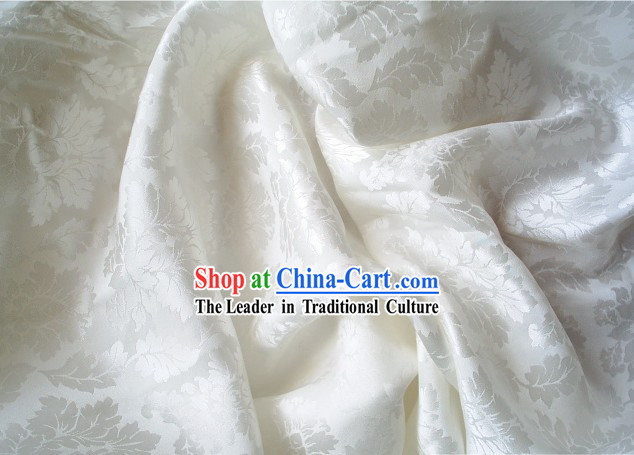 Ivory Silk Brocade Fabric