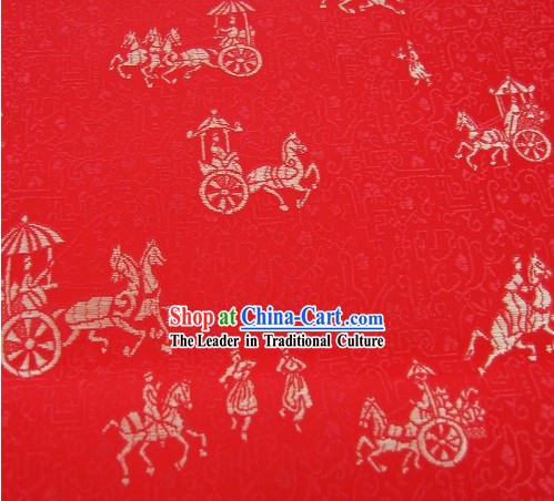 Traditional Carriage Stamps Brocade Fabirc