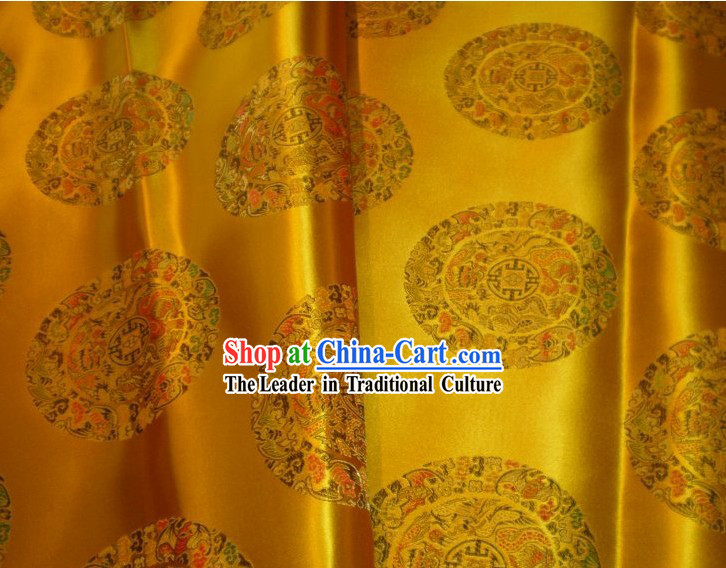 Golden Dragons Brocade Fabric