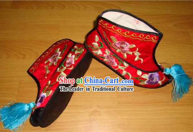 Chinese Embroidery Shoes / Handmade Red Shoes