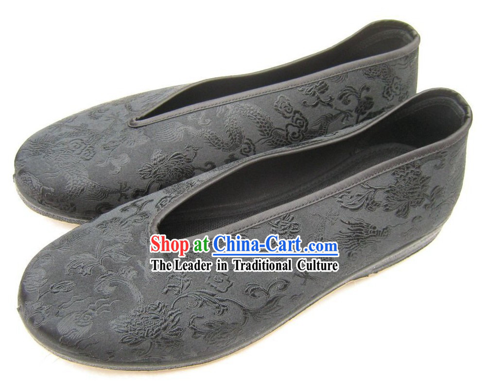 Chinese Traditional Brocade Shoes for Men / Classic Dragon Shoes