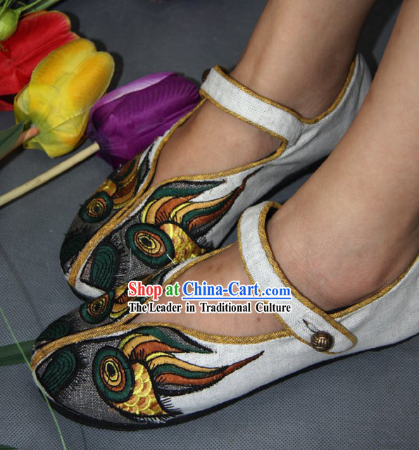 Handmade Folk Tiger Shoes for Women