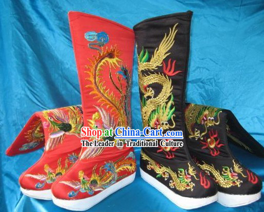 Chinese Empress Phoenix Shoes and Emperor Shoes