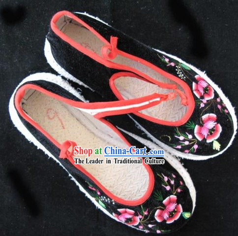Chinese Handmade Velvet Shoes