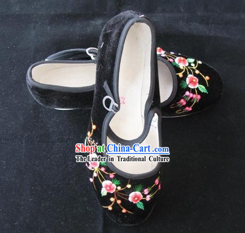 Chinese Yunnan Handmade Velvet Shoes