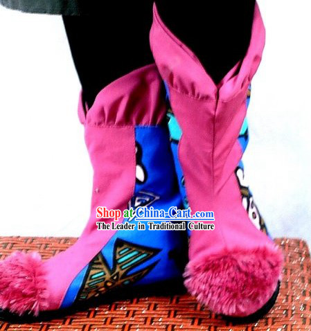 Chinese Embroidered Cloth Boots