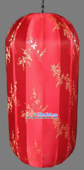 Chinese Electrical String Red Lanterns / Silk Brocade Lanterns