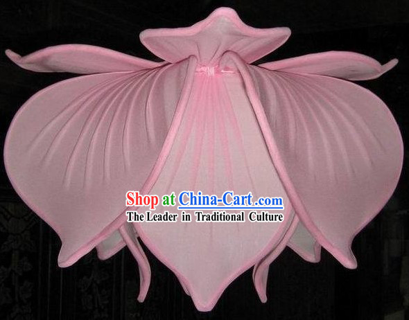 Chinese Classical Lotus Fabric Lanterns / Lotus Ceiling Lantern