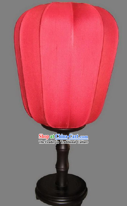 Chinese White Gourd Silk Table Palace Lantern / Replica Palace Lantern