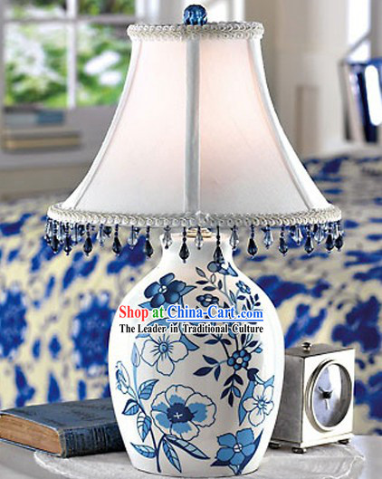Chinese Blue White Ceramic Lantern _ Table Lantern