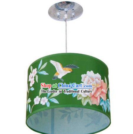 Chinese Silk Handpainted Lantern / Palace Flower and Bird Lantern