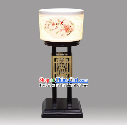 Chinese Classic Jingde Town Ceramic Palace Flower and Bird Lantern