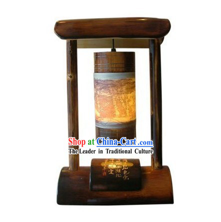 Chinese Traditional Bamboo Table Lantern