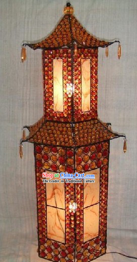 Large Tower Shape Chinese Metal Palace Lanterns / Iron Lantern