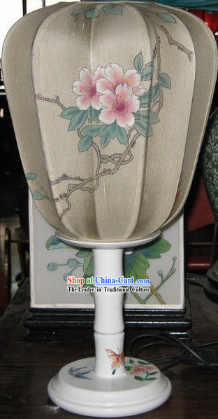 Chinese Antique Style Hand Painted Lantern _ Peony Lamps and Lanterns