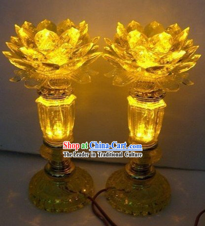 Electric LED Lotus Lantern _ Singaporean Lantern