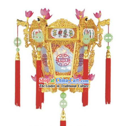 Chinese New Year Golden Flower Basket Wall Lantern