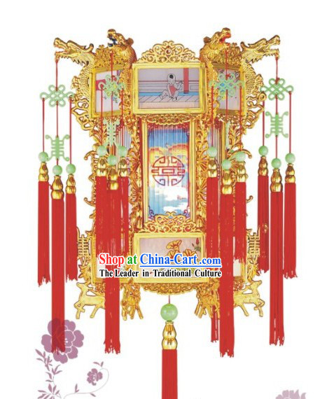 Chinese Classic Dragons Hanging Palace Lantern