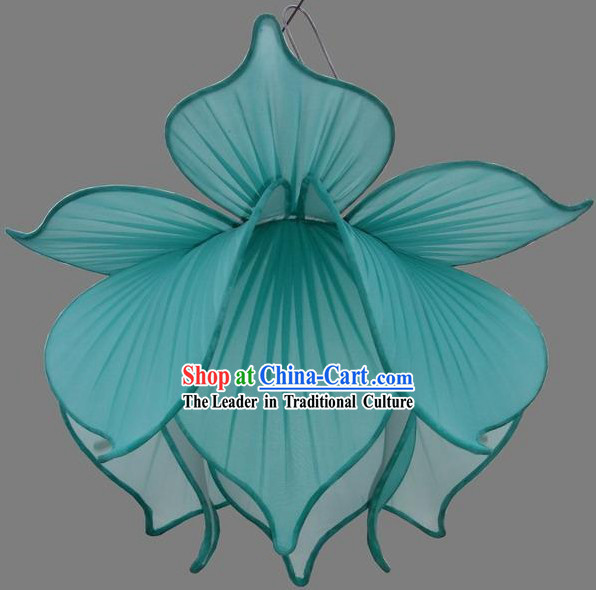 Large Silk Lotus Ceiling Lantern