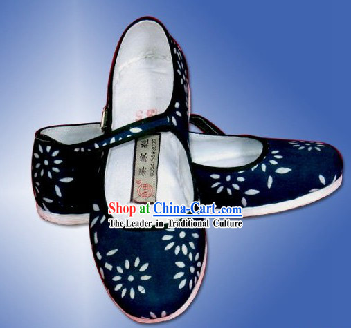 Chinese Traditional Handmade Batik Cloth Shoes