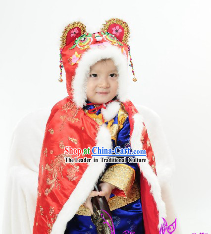 Chinese Baby Tiger Hat Cape