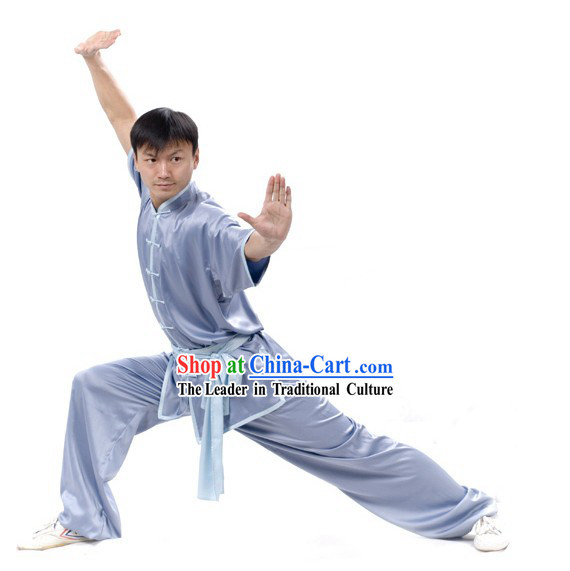 Chinese Professional Silk Wushu Uniform _ Wushu Clothing