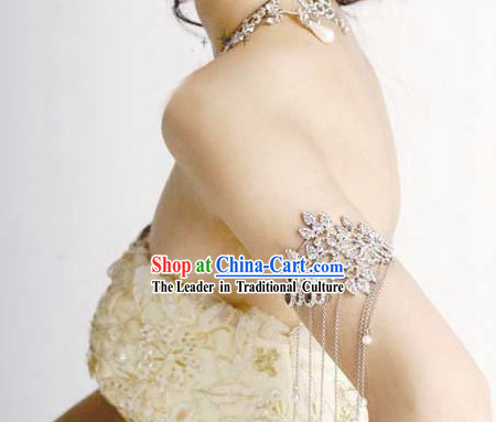 Bridal Accessories - Silver Armlet for Bride