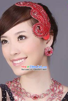 Bridal Accessories - Lucky Red Bride Headpiece