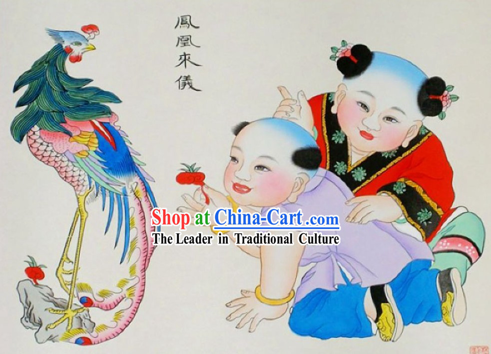 Yangliuqing Folk Painting _ Chinese New Year Paintings - Phoenix Painting