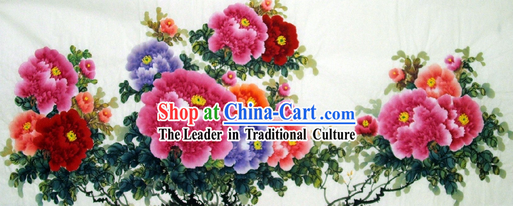 Chinese Traditional Peony Flower Painting