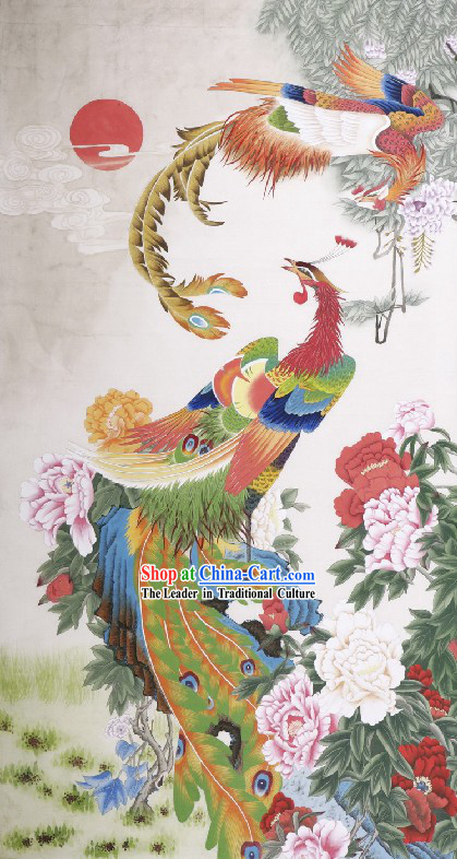 Traditional Chinese Phoenix Paintings / Phoenix Peony Painting