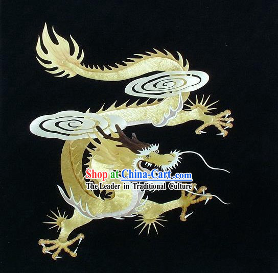 Chinese Handmade Wheat Dragon Painting