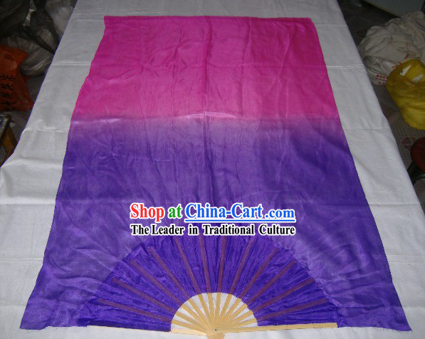 Chinese Dance Silk Fans with Long Fabric
