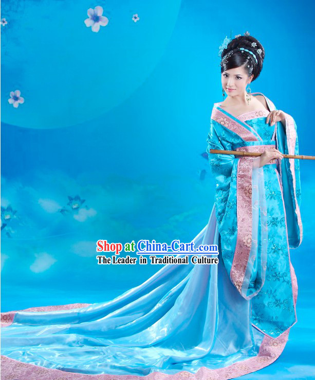 Ancient Tang Dynasty Beauty Costumes Complete Set