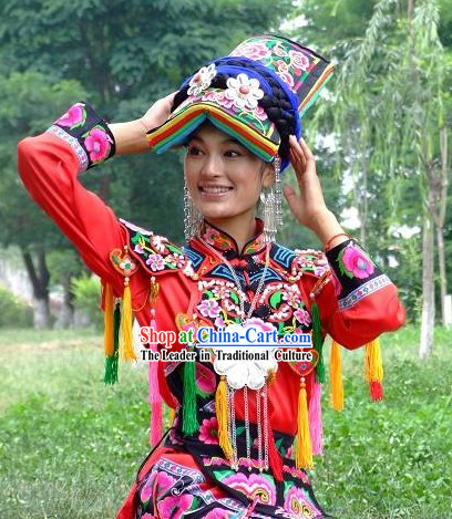 Chinese Classical Ethnic Wedding Dress / Qiang Minority