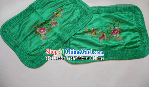 Chinese Hand Embroidery Silk Pillowship - Mandarin Ducks