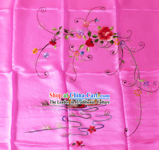 Chinese Hand Embroidery Silk Bedcover - Mandarin Ducks