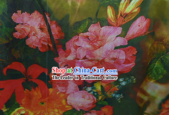 Chinese Traditional Rui Fu Xiang Silk Textile Fabric - Flower Combination