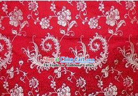 China Traditional Red Brocade Fabric