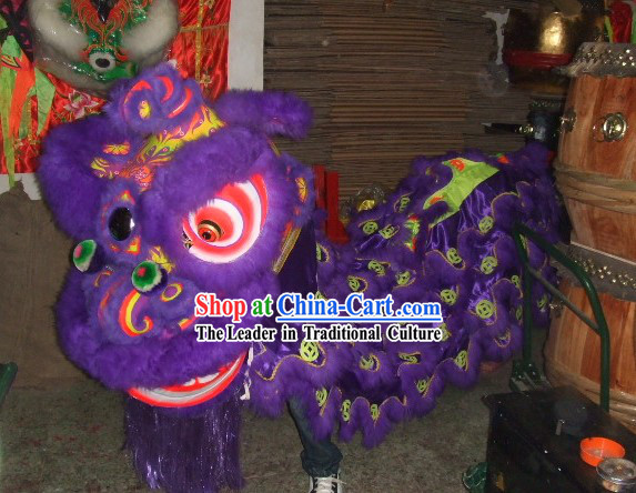 Luminous Ancient Coins Pattern Business Opening Lion Dance Costume Complete Set